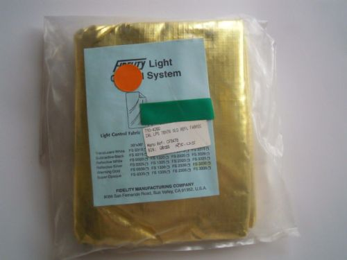 "Fidelity Light Control System Gold Fabric reflector 78""x78"""